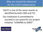 why we joined the national on the cusp collaborative