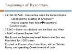 beginnings of byzantium