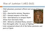 rise of justinian i 482 565