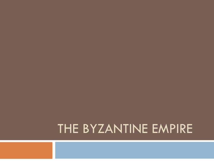 the byzantine empire n.