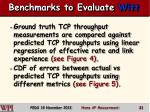benchmarks to evaluate witt