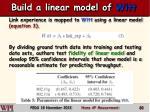 build a linear model of witt