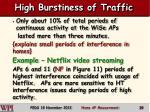 high burstiness of traffic