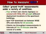 how to measure witt
