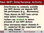 non wifi interference activity