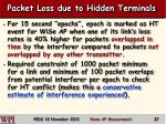 packet loss due to hidden terminals1