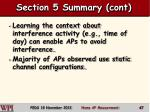 section 5 summary cont