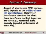 section 5 summary
