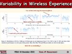 variability in wireless experience