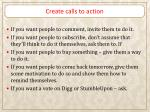 create calls to action