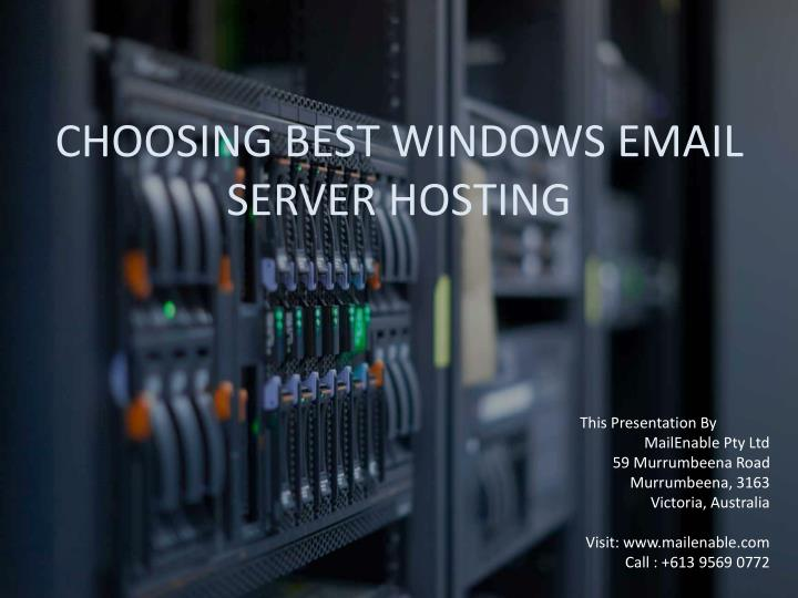 choosing best windows email server hosting n.