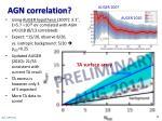 agn correlation