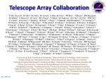 telescope array collaboration