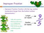 improper fraction