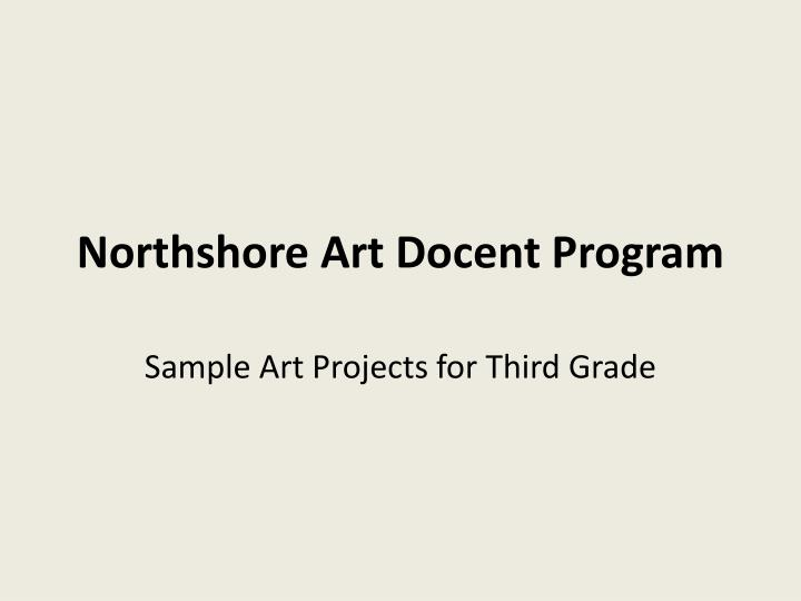 northshore art docent program n.