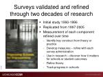 surveys validated and refined through two decades of research