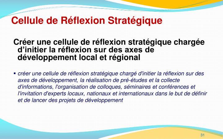 Cellule de Réflexion Stratégique