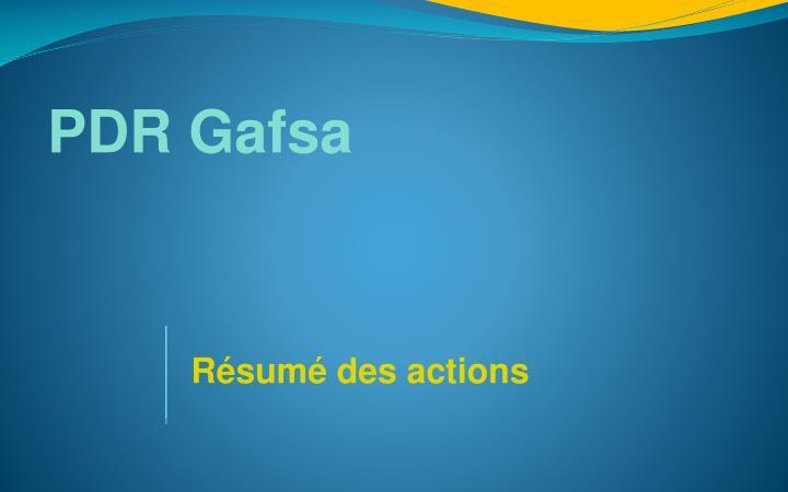 PDR Gafsa