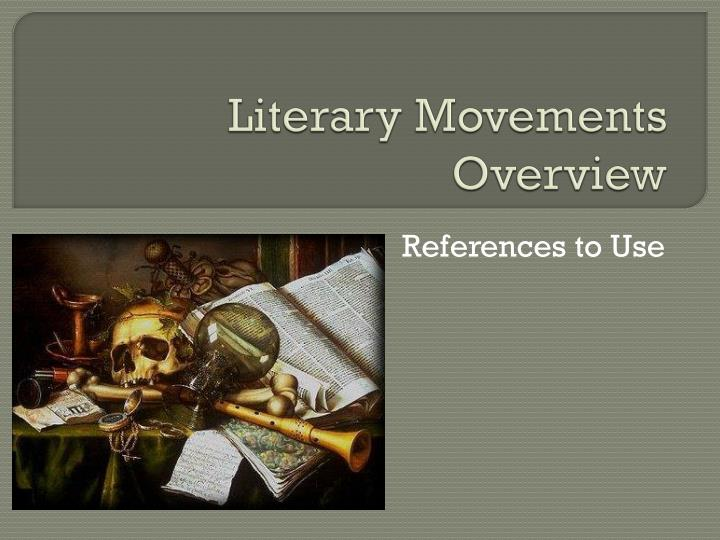 literary movements overview n.
