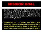 mission goal