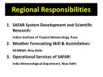 regional responsibilities