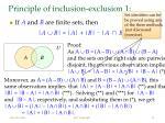 principle of inclusion exclusion 1