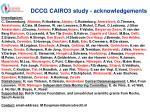 dccg cairo3 study acknowledgements