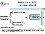 definition of pfs2 primary endpoint