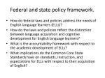 federal and state policy framework