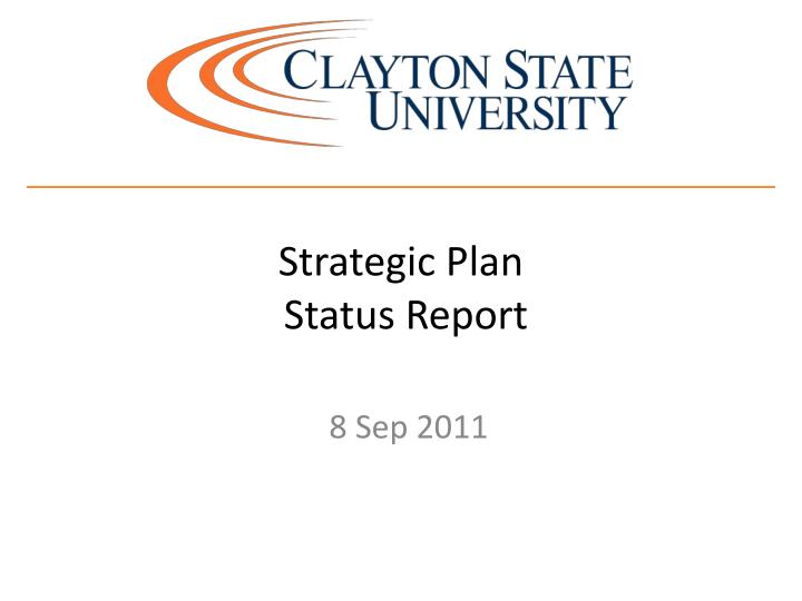strategic plan status report n.
