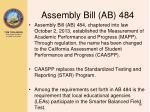 assembly bill ab 484
