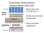 concurrent constructions reduce worst case cost