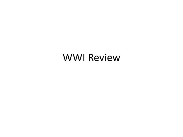 wwi review n.