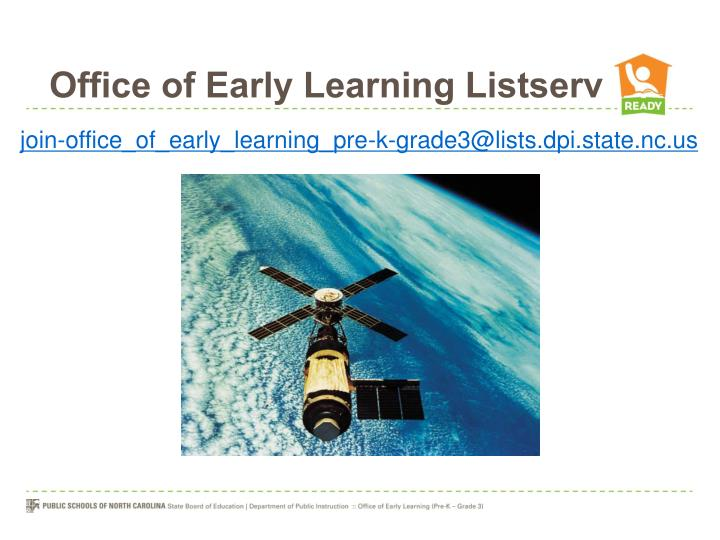 Office of Early Learning Listserv