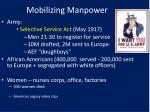 mobilizing manpower