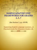 sample adapted unit frameworks for grades 2 5 7 see section 3 p p 49 99