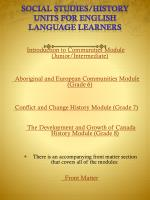 social studies history units for english language learners