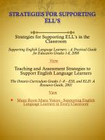 strategies for supporting ell s