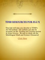 tdsb resources for ell s