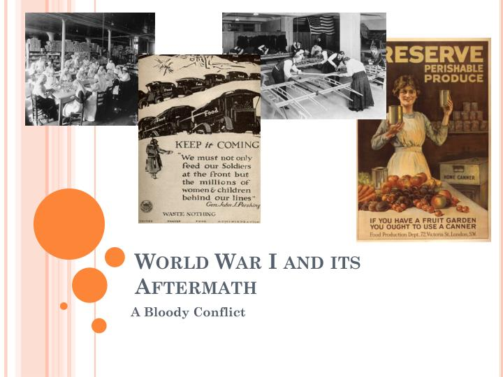 world war i and its aftermath n.
