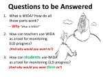 questions to be answered1