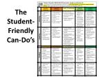 the student friendly can do s