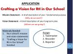 crafting a vision for rti in o ur school