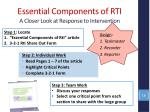 essential components of rti a closer look at response to intervention