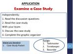 examine a case study