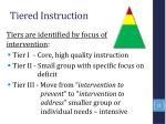 tiered instruction