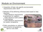 module on environment