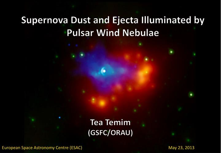 supernova dust and ejecta illuminated by pulsar wind nebulae n.