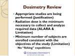 dosimetry review