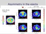 asymmetry in the ejecta